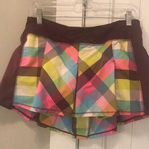 Lululemon plaid tennis skirt